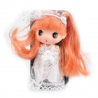 Cute Protective Case with Decorative Ddung Doll Stand Holder for iPhone 4 / 4S - White + Black