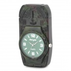 Stylish Cool 2-in-1 Metal Watch + Windproof Gas Lighter - Army Green (1 x SR626W)