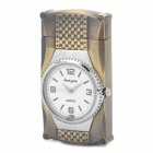 Stylish Cool 2-in-1 LED Colorful Light Metal Watch + Windproof Gas Lighter - Bronze ( 1 x SR626W)