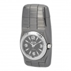 Stylish Cool Metal Windproof Gas Lighter w/ Watch + LED light + UV Lamp - Grey (1 x SR626W)