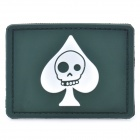 Tactical Skull Spade Velcro Sticker (Random Color)