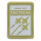 Tactical Rescuer Gear Warplanes Velcro Sticker - Green