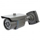 "P2P 300KP 1/4"" CMOS Waterproof Network Surveillance ID Camera w/ 24-LED IR Night Vision - Black"