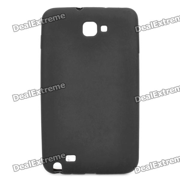 Protective Rubber PVC Case for Samsung Galaxy Note i9220 / GT-N7000 - Black mhl docking station for samsung galaxy note i9220 black silver