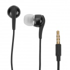 Designer's In-Ear Earphone w/ Microphone for Samsung Galaxy Note i9220 GT-N7000 - Black (112cm)