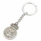 Cool Real Madrid Football Club Logo Keychain - Bronze