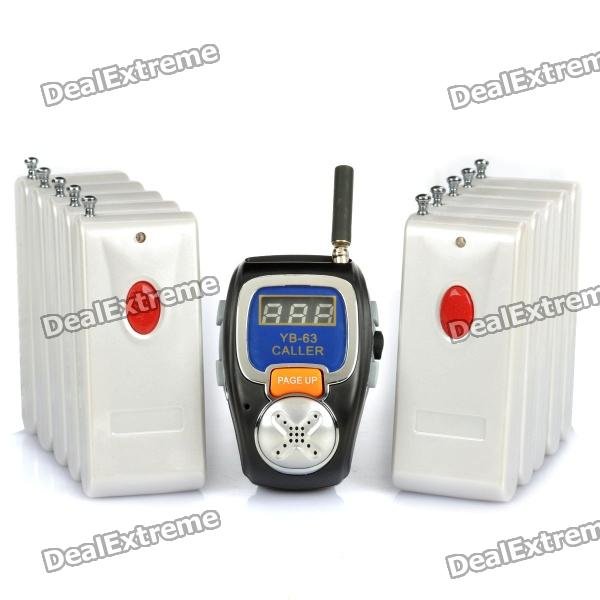 Фото Multi-Function Wireless Waiter Server Call Paging System (1 x Wristwatch Receiver / 10-Caller) 433mhz restaurant pager wireless calling system 15pcs table call button m k 3 1pcs watch m w 1 pagers