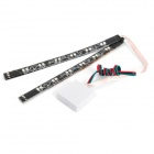 12-LED Red / Blue Fast Strobe Light Flexible Strips (DC 12V / Pair)
