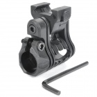 Quick-Release Flashlight / Laser Mount Holder for 20mm Rail Gun - Black (20mm-Diameter)