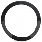 Fiber Car Steering Wheel Sleeve - Black (37~39cm Diameter)