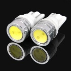 T10 1.5W 50LM 6000-6500K White Light 1-LED Light Bulb Car Reading / Door Light (Pair)
