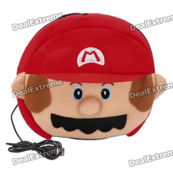 Cute Mario Style USB Plush Hand Warmer Mouse Pad Mat - Red