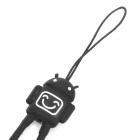 Stylish Silicone Mobile Phone Strap - Black