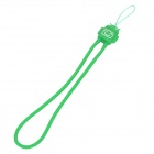 Stylish Silicone Mobile Phone Strap - Deep Green