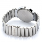 Fashion Stainless Steel Quartz Wrist Watch - Silver + Black (1 x LR626)