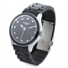 Fashion Rubber Band Wrist Watch - Black (1 x LR626)