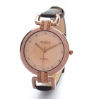 Fashion PU Leather Band Quartz Wrist Watch - Coffee (1 x LR626)