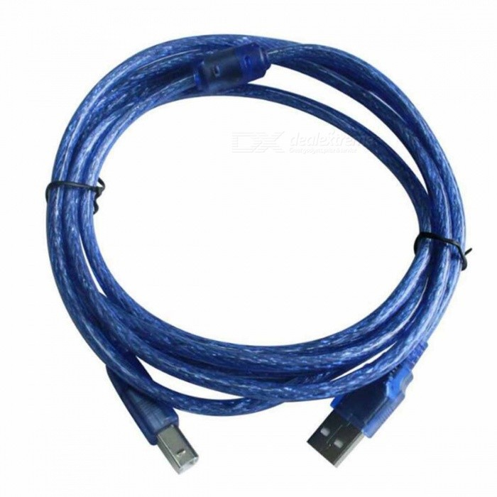 480Mps USB Printer Cable - Blue (3M- Cable Length) usb 2 0 printer scanner connection flat cable blue 145cm