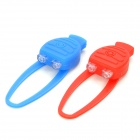 3-Mode 2-LED Blue & Red Light Tie-On Bike Light Keychain - Pair (2 x CR2032)