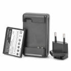 3.7V 1800mAh Battery + EU Plug Adapter + USB/2-Flat-Pin Plug Charger for HTC G19 + More