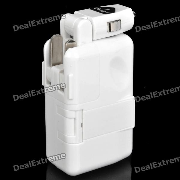 AC / Car Charger Powered 2300mAh Notfall Battery Pack w / USB-Adapter-Kabel für Handy + Mehr
