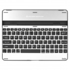 Bluetooth V3.0 USB Rechargeable Magnalium Cover 83-Key Keyboard for iPad 2