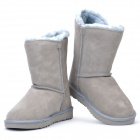 Women's Winter Mid Calf Warm Snow Boots Shoes - Light Blue (EUR Size-37)