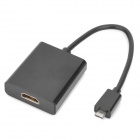 Micro USB Male HDTV Adapter for Samsung i9100 / i997 / HTC G14 + More - Black