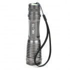 W-8033 XM-L T6 5-Mode 800LM White LED Zoom Convex Lens Flashlight w/ Strap (1 x 18650 / 3 x AAA)