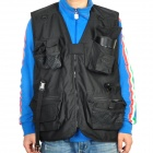 Multi-Function Cotton Twill Photography Vest - Black (Size-XXXL)