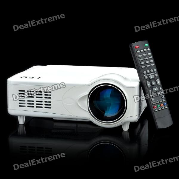 D9HS 5 LCD ATSC LED Projector with HDMI / VGA / AV / YPbPr / TV / DTV / S-Video - White d9hb 5 lcd led projector with hdmi vga scart ypbpr tv s video black