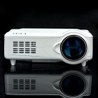 "D9HS 5"" LCD ATSC LED Projector with HDMI / VGA / AV / YPbPr / TV / DTV / S-Video - White"