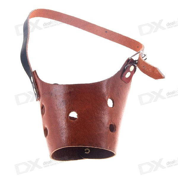 Leather Jaw Restraint for Dogs - Large