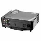 "D9HR 5"" LCD DVB-T LED Projector w/ USB / SD / HDMI / VGA / Scart  / YPbPr / TV / S-Video - Black"