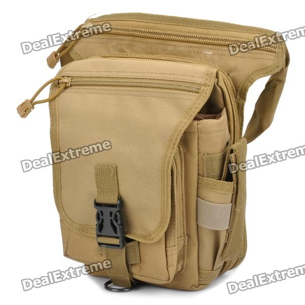 Stylish Multi-Functional 600D Paulin Leg Bag - Earthy