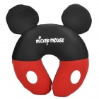 Cute Mickey Mouse Style U Type Neck Pillow - Black + Red + White