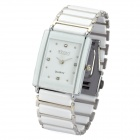 Lady's Stylish Waterproof Stainless Steel Quartz Watch - White (1 x CR62SW)
