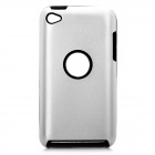 Protective Aluminum Alloy + Silicone Back Case for Ipod Touch 4 - Silver
