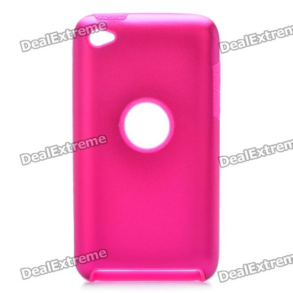 protective soft silicone back case for ipod touch 5 orange Protective Aluminum Alloy + Silicone Back Case for Ipod Touch 4 - Deep Pink