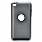 Protective Aluminum Alloy + Silicone Back Case for iPod Touch 4 - Iron Grey