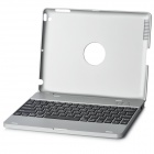 Rechargeable Bluetooth 3.0 82-Key Wireless Keyboard w/ Protective Case for Ipad 2 - Silver + Black