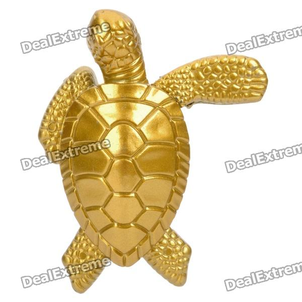 Stylish Cool Tortoise Style Zinc Alloy Windproof Gas Lighter - Golden