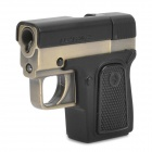 Stylish Cool Gun Style Windproof Gas Lighter with UV Money Detector - Black + Bronze