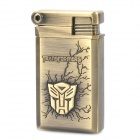 Stylish Cool Transformers Pattern Zinc Alloy Windproof Gas Lighter - Bronze