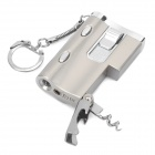 Stylish Cool Windproof Gas Lighter w/ LED Light / UV Lamp / Bottle Opener / Keychain (1 x SR626SW)