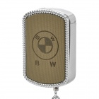 Stylish Cool BMW Keychain Windproof Gas Lighter - Silver