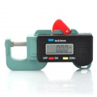 "1.2"" Display Screen 0~15mm Digital Thickness Gauge - Black (Precision 0.01mm/1 x AG13)"