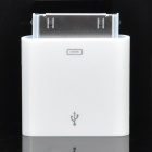 Mini Apple 30-Pin to Mini USB + Micro USB Charger Adapter - White