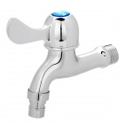 Stylish Copper Faucet Water Tap with Ceramic Valve Core - Silver