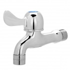 Copper Faucet Water Tap w/ Ceramic Disc Cartridge / Filter Net - Silver